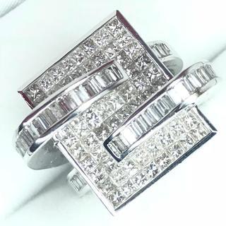 1450 ダイヤモンド2.10ct WGK18 ホワイトゴールド リング 13号(リング(指輪))