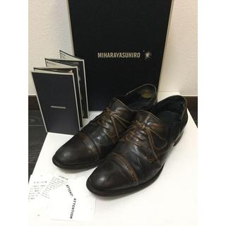 ミハラヤスヒロ(MIHARAYASUHIRO)のミハラヤスヒロ 炙り出し 26センチ 使用感有 スリッポン ビジネスシューズ 靴(ドレス/ビジネス)