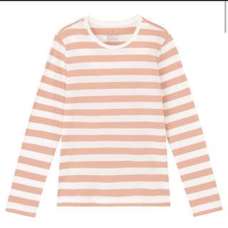 MUJI (無印良品) - オーガニックコットンクルーネック長袖Tシャツ(ボーダー)