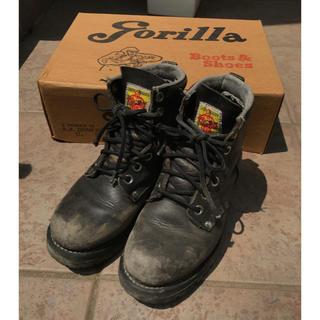 ゴリラ(gorilla)のgorillaヴィンテージブーツ黒24〜24.5cmDr. Martin7ホール(ブーツ)