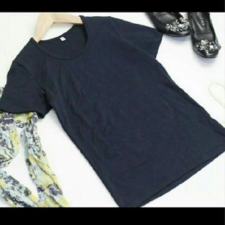 ムジルシリョウヒン(MUJI (無印良品))の無印良品 Tシャツ カットソー 半袖 MUJI XS ネイビー 121821(Tシャツ(半袖/袖なし))