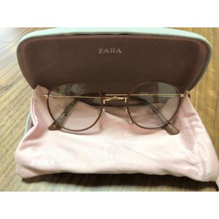 ザラ(ZARA)のザラ ZARA レザー風フレーム メガネ(サングラス/メガネ)