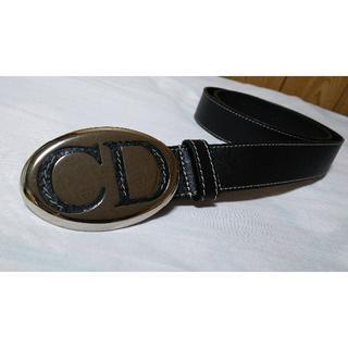 ディオール(Dior)の正規未 ディオール シルバーCDロゴバックルベルト黒 80 Dior Homme(ベルト)