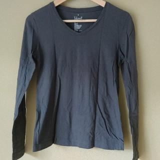 ムジルシリョウヒン(MUJI (無印良品))の無印良品 オーガニックコットン 長袖Tシャツ Vネック レディース(Tシャツ(長袖/七分))