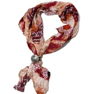 カスタムカルチャー(CUSTOM CULTURE)のスカーフ コンチョ付 レッド  custom culture(バンダナ/スカーフ)