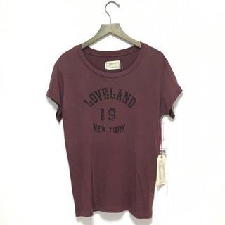 カレントエリオット(Current Elliott)の新品 カレントエリオット 半袖カットソー 1 ダークレッド / A750(Tシャツ(半袖/袖なし))