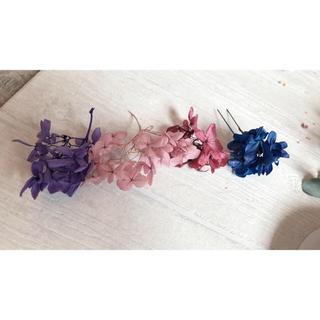 髪飾り紫系サンプル  改(浴衣)