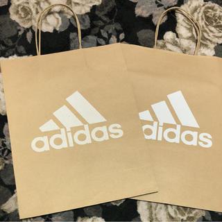 アディダス(adidas)のアディダス ショップ袋2枚セット(ショップ袋)