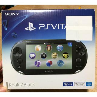 プレイステーション(PlayStation)の値下げ可要相談◆PSVITA◆本体◆中古◆箱あり◆カーキブラック(携帯用ゲーム本体)