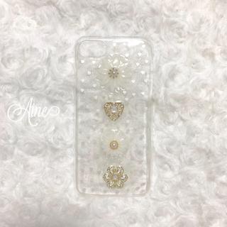 Aine♥ iPhoneケース ハンドメイド マーガレット ハート(スマホケース)