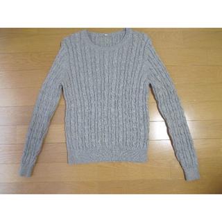ムジルシリョウヒン(MUJI (無印良品))のMUJI 無印良品 ケーブル編みニット セーター 長袖 Sサイズ(ニット/セーター)