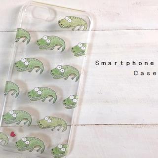 ワニ  スマホケース  iPhone8  多機種対応(スマホケース)