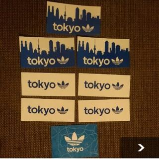 アディダス(adidas)のアディダス ステッカー、シール、ポストカード 計8枚セット(ノベルティグッズ)