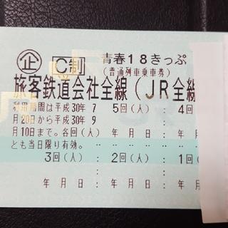 青春18きっぷ 1回 即日発送 要返送(8/21) 送料無料(鉄道乗車券)