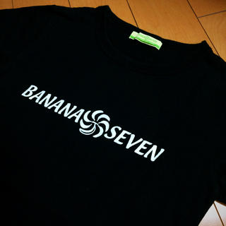 バナナセブン(877*7(BANANA SEVEN))のバナナセブンブラック✖︎シルバーラメコットンT(Tシャツ(半袖/袖なし))