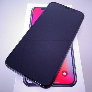 アップル(Apple)の◇iPhoneX 256GB Space Gray au 未使用フィルムなし◇(スマートフォン本体)