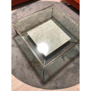 オオツカカグ(大塚家具)の大塚家具ガラステーブル大理石リビングテーブル(ダイニングテーブル)