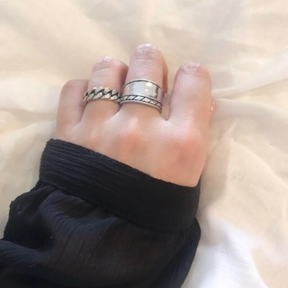 slanting ring シルバー925(リング(指輪))