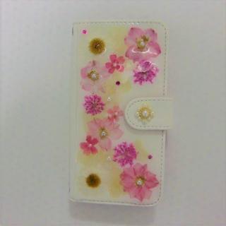 押し花スマホケース(手帳型 iPhone6/6S)(スマホケース)
