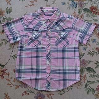 リトルベアークラブ(LITTLE BEAR CLUB)の120 リトルベアークラブ チェックシャツ(Tシャツ/カットソー)
