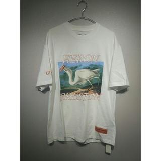 アンチヒーロー(ANTIHERO)のHERON 白い Tシャツ Mサイズ(Tシャツ/カットソー(半袖/袖なし))