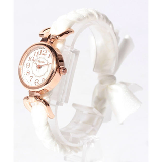スリーフォータイム(ThreeFourTime)のThreeFourTime 腕時計 リボンウォッチ ホワイト(腕時計)