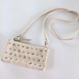 シマムラ(しまむら)のしまむら購入♡星スタッズ付きミニショルダーバッグ♡インスタ人気♡ホワイト♡(ショルダーバッグ)