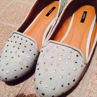 ランダ(RANDA)のデニムぺたんこ(ローファー/革靴)