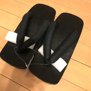 新品‼︎ 浴衣用 下駄  【桐製】【今年】【ブラック】(下駄/草履)
