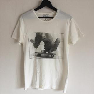 SANDRO(サンドロ) 丸首 半袖フォトTシャツ Sサイズ [WHITE]