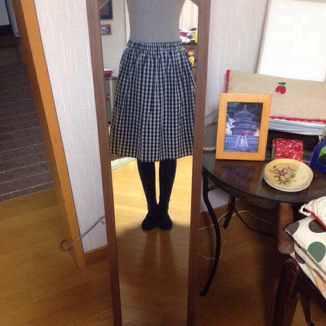 cynthia(シンシア)のギンガムチェック スカート レディースのスカート(ひざ丈スカート)の商品写真