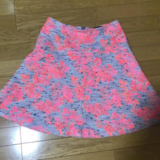デミルクスビームス(Demi-Luxe BEAMS)のピンク×グレー/ビームス スカート(ひざ丈スカート)