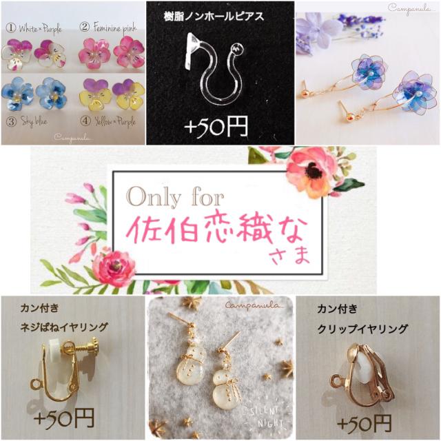 佐伯恋織なさま専用ページ ハンドメイドのアクセサリー(ピアス)の商品写真