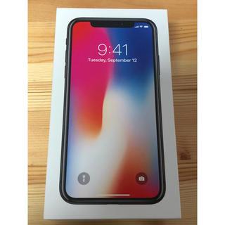 アイフォーン(iPhone)のiPhone x スペースグレー 256GB (スマートフォン本体)