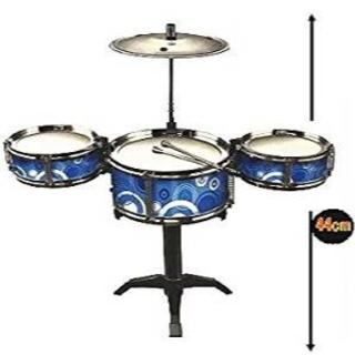 キッズ用 ドラムセット おもちゃの太鼓 (ブルー(サークル))(セット)
