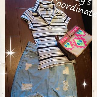ギャップ(GAP)の GAPボーダーポロシャツ☆ギャップZARAH&MベルシュカTシャツチュニックチ(ポロシャツ)
