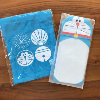 未開封☆ドラえもん巾着&携帯ケース☆サマパス 夏祭り(キャラクターグッズ)