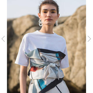 アメリヴィンテージ(Ameri VINTAGE)のMEDI DRAWING UNEVEN TEE 新品未使用(Tシャツ(半袖/袖なし))
