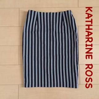 キャサリンロス(KATHARINE ROSS)のKATHARINE ROSS*ストライプタイトスカート(ひざ丈スカート)