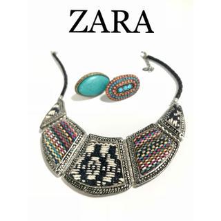 ザラ(ZARA)のZARA♡ボヘミアン調 ボリュームネックレス♡+リング(ネックレス)