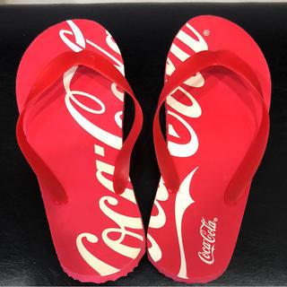 コカコーラ(コカ・コーラ)の非売品  コカ・コーラ  ビーチサンダル  中古品(サンダル)