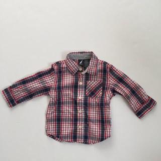 アメリカ購入ノーティカNAUTICAベビー服ボタンシャツトップスカーディガン美品