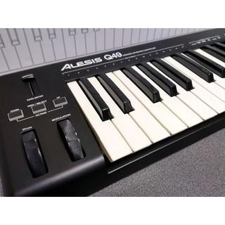 USB MIDIキーボード 49鍵 Alesis Q49(MIDIコントローラー)