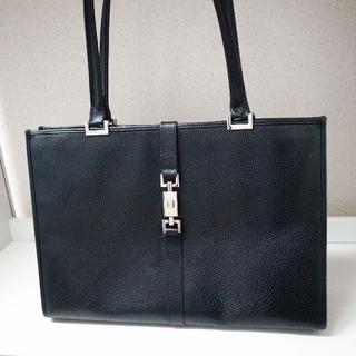 グッチ(Gucci)の正規品♡最安値♡グッチ ジャッキー トートバッグ 黒 レザー バッグ 財布(トートバッグ)