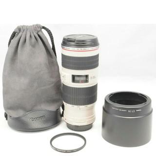 キヤノン(Canon)の極上美品 Canon キャノン EF 70-200m F4l  IS 手振補正付(デジタル一眼)