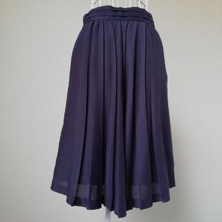 エリオポール(heliopole)のheliopole 上品プリーツスカート(ひざ丈スカート)
