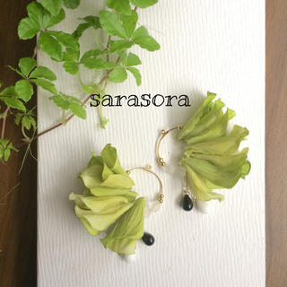 192 green petals ピアスORイヤリング(ピアス)