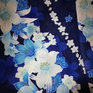 シマムラ(しまむら)の浴衣 作り帯のセット ¥2,500 →¥2,300(浴衣)