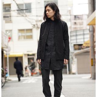 デヴォア(DEVOA)のdevoa Jacket Cotton Linen Rip Stop Black(テーラードジャケット)