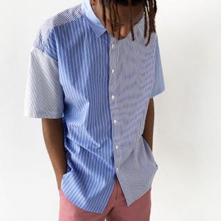 アレッジ(ALLEGE)の【18SS】MR.GENTLEMAN 半袖ストライプシャツ(シャツ)